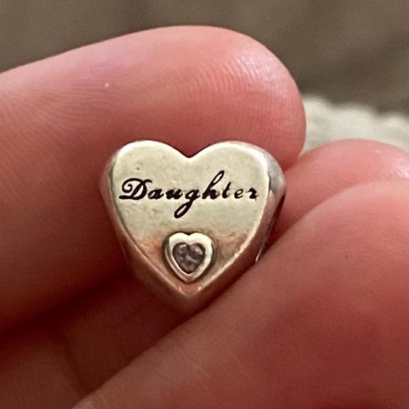 Pandora Jewelry Pandora Bracelet Daughter Charm Silver Pink Poshmark